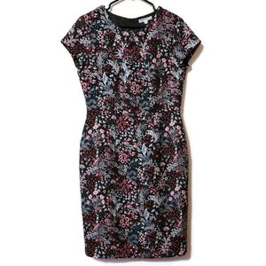DownEast Floral Jaquard wiggle pencil dress